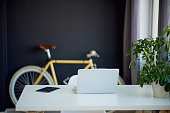 Loft Designed Working Space with bicycle