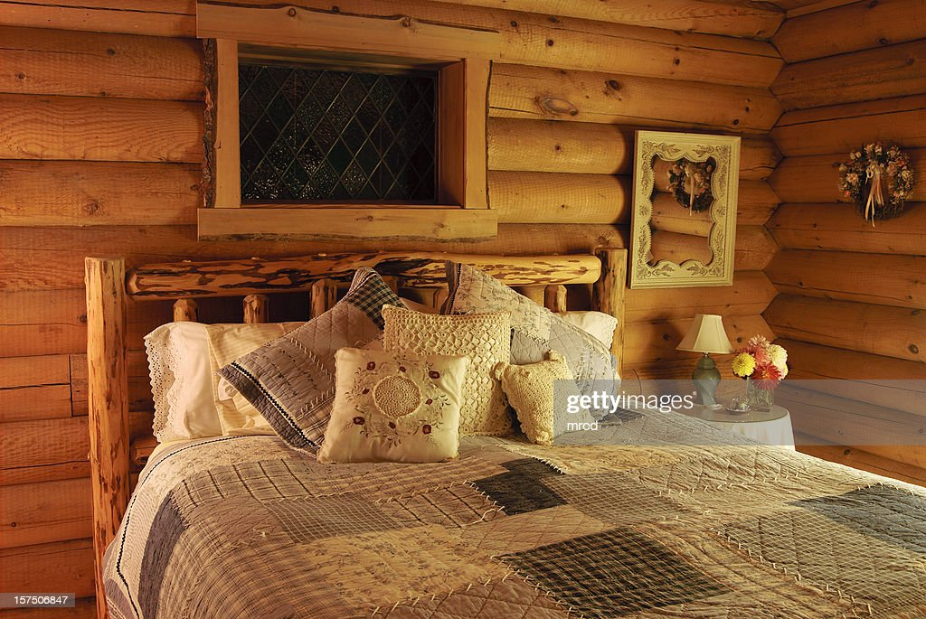 Cabin Style Bedroom Part - 36: Stunning Log Cabin Style Bedroom Contemporary Dallasgainfo Com