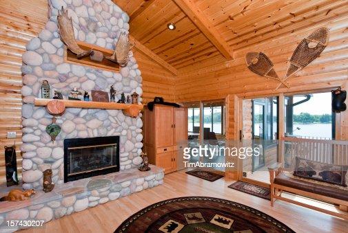 Log cabin interior