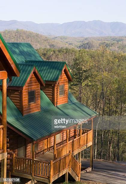 Blockhütte mit Smoky Mountain View