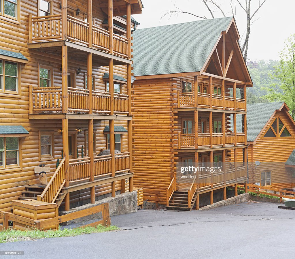 Log cabins in the smoky mountains stock photo getty images for Www cabins of the smoky mountains com