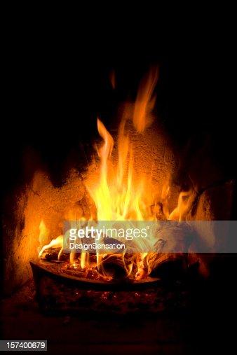 暖炉の火の炎
