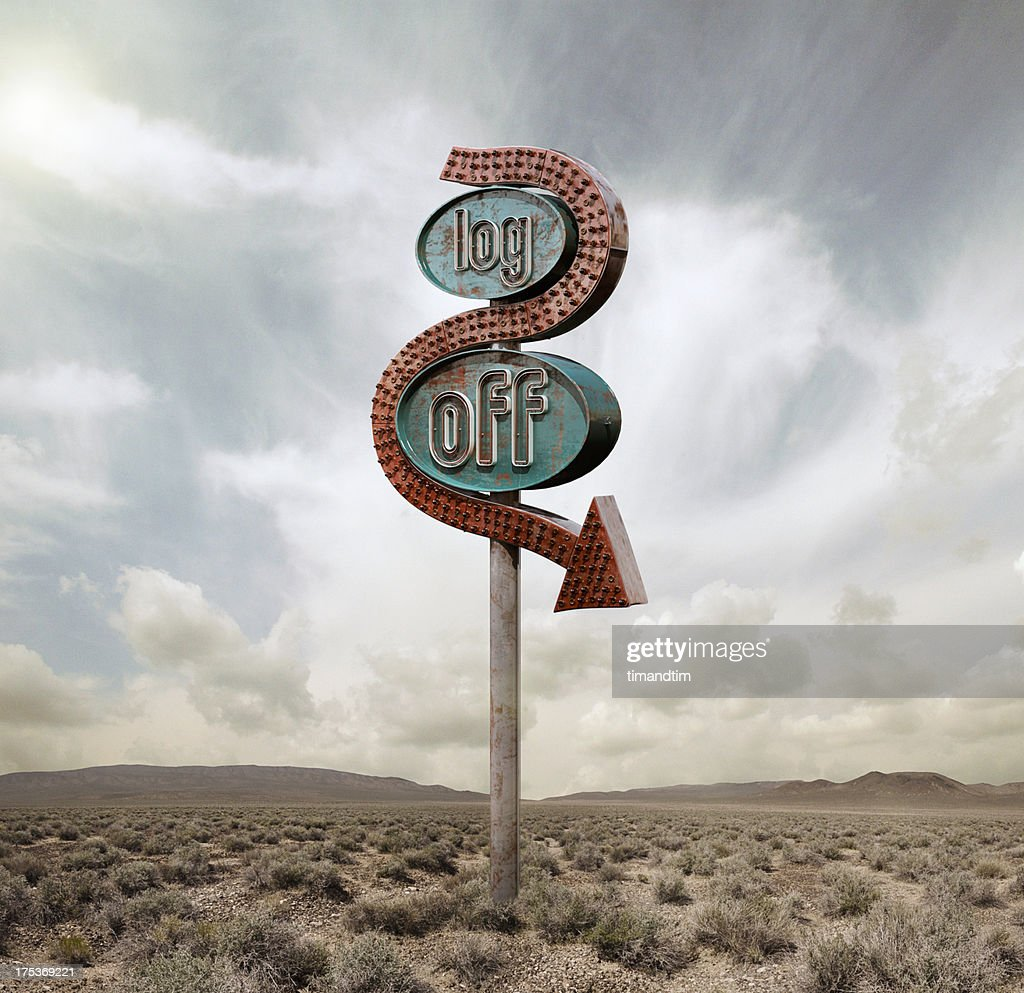 Log off neon in the desert