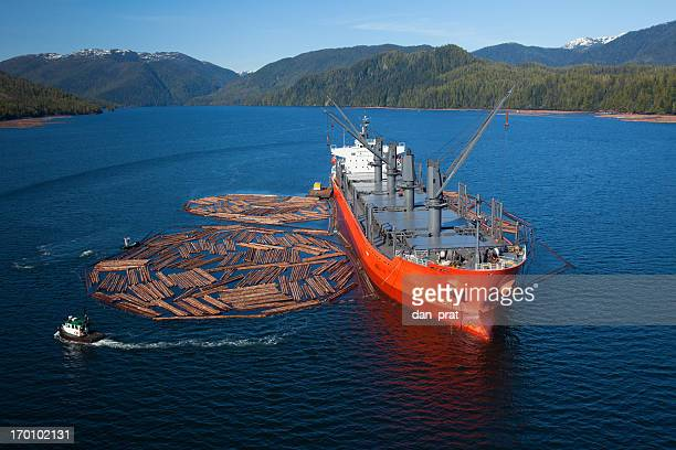 Log Ship, Aerial Photo