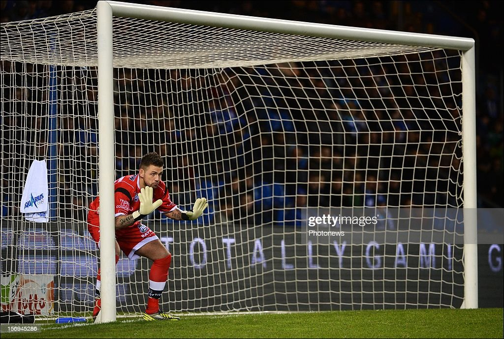 Logan Bailly of OHL in action during the Jupiler League match between KRC Genk and Oud Heverlee Leuven OHL on November 25, 2012 in Genk, Belgium.