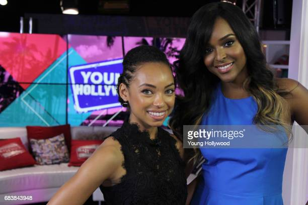 Logan Browning and Antoinette Robertson at the Young Hollywood Studio on May 9 2017 in Los Angeles California