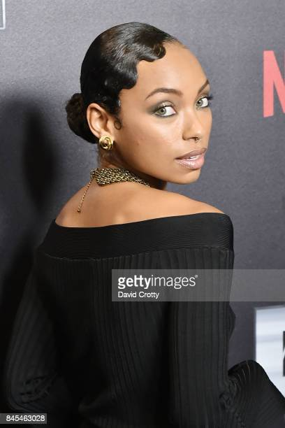 Logan Browning attends Netflix Presents Def Comedy Jam 25 at The Beverly Hilton Hotel on September 10 2017 in Beverly Hills California