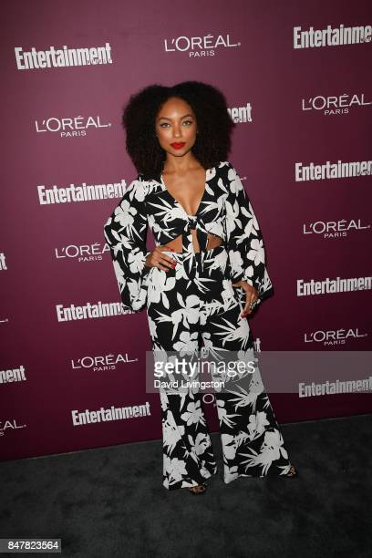 Logan Browning attends the Entertainment Weekly's 2017 PreEmmy Party at the Sunset Tower Hotel on September 15 2017 in West Hollywood California