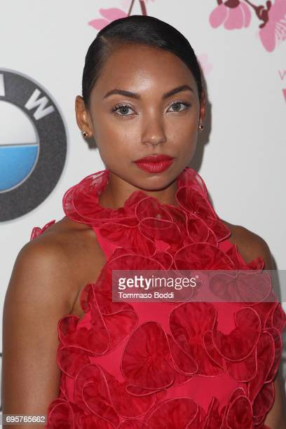 Logan Browning attends the Women In Film 2017 Crystal Lucy Awards Presented By Max Mara And BMW at The Beverly Hilton Hotel on June 13 2017 in...
