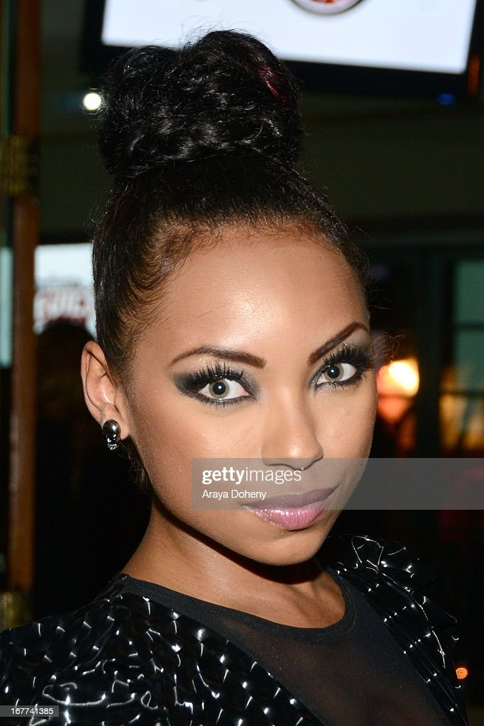 Logan Browning attends VH1's 'Hit the Floor' Wrap Party on April 28, 2013 in Los Angeles, California.