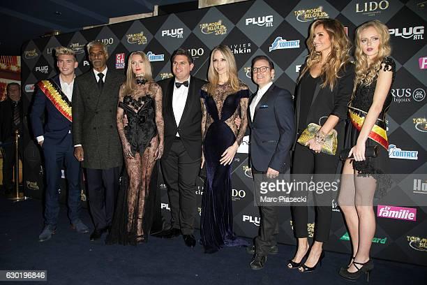 Logan Chaumont Satya Oblette Laura Messia Jeremy Urbain Tonya Kinzinger JeanMarc Genereux Adriana Karembeu and Chloe Glanowski attend 'Top Model...