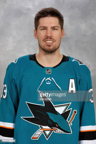 Logan Couture of the San Jose Sharks poses for his official headshot for the 201718 season on September 14 2017 at Sharks Ice in San Jose California