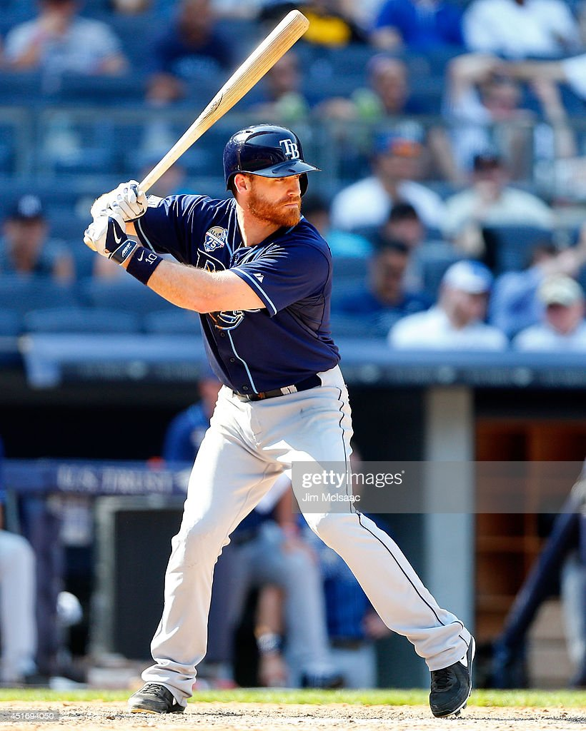 Logan Forsythe #10 of the Tampa Bay Rays in action against the New York Yankees at Yankee Stadium on July 2, 2014 in the Bronx borough of New York City. The Rays defeated the Yankees 6-3.
