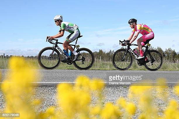 Logan Griffin of Auckland makes his way to Coronet Peak from Mossburn during stage three of the 2016 Tour of Southland on November 02 2016 in...