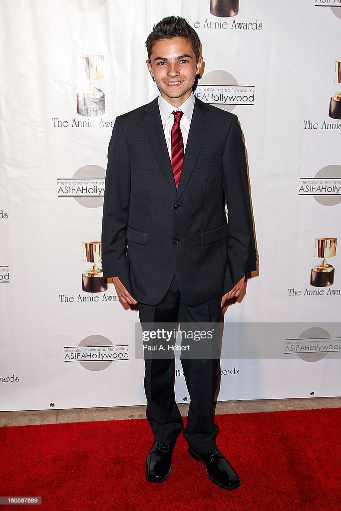 Logan Grove arrives at the 40th Annual Annie Awards held at Royce Hall on the UCLA Campus on February 2, 2013 in Westwood, California.