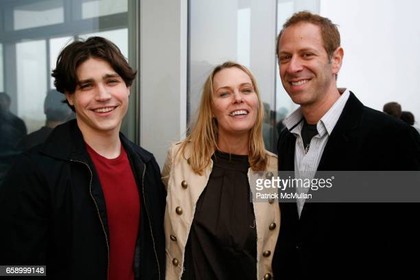 Logan Huffman Mary Liken and Matt Messinger attend THE COOPER SQUARE HOTEL MINIBAR EXCLUSIVES UNVEILING at Cooper Square Hotel Penthouse on April 21...