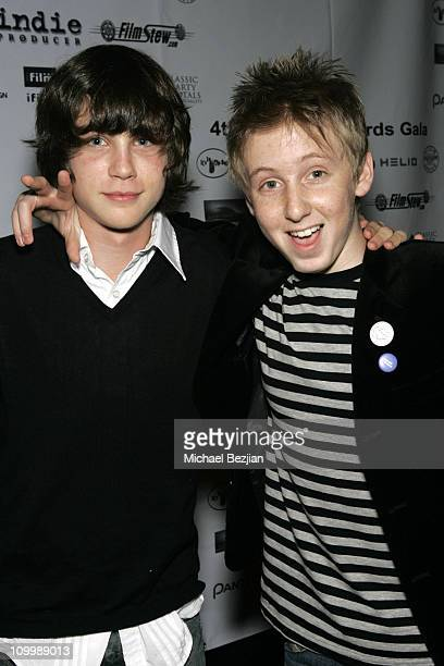 Logan Lerman and Dean Collins during 4th Annual Indie Producers Awards Gala After Party in Los Angeles California United States