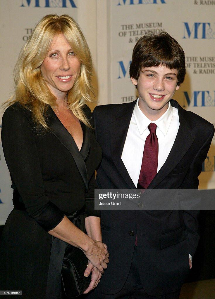 Logan Lerman and mother