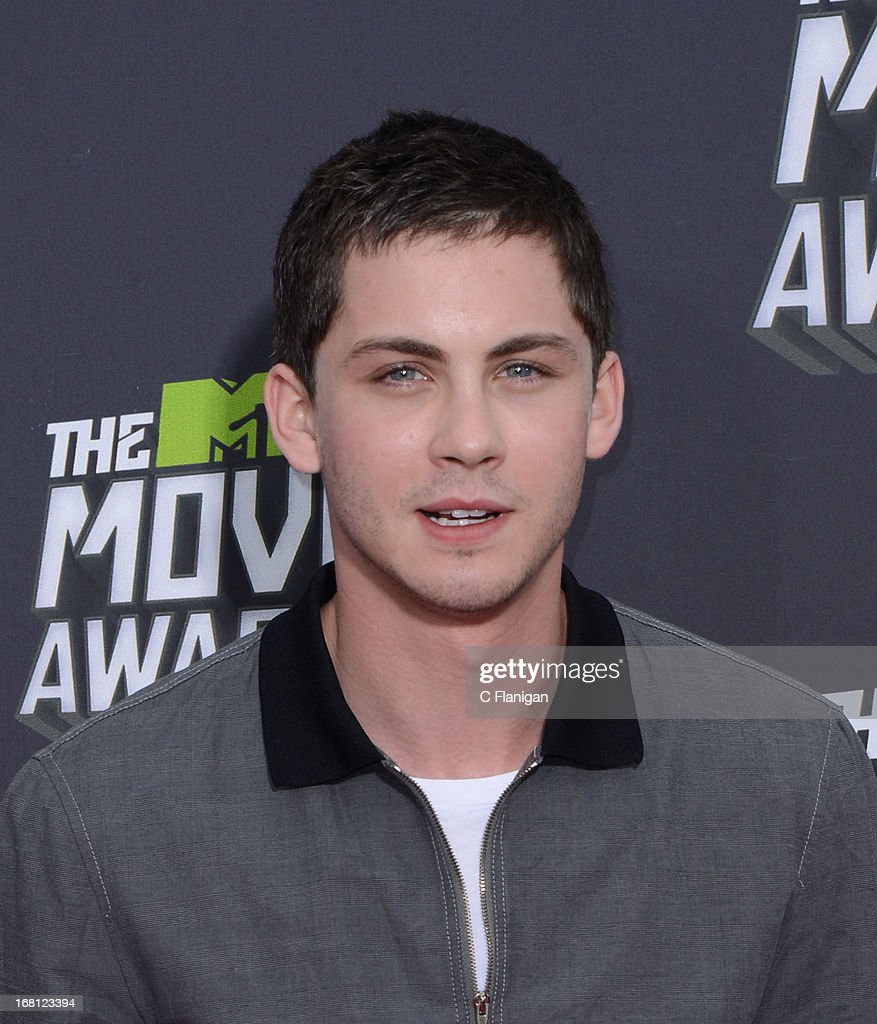 Logan Lerman arrives at the 2013 MTV Movie Awards at Sony Pictures Studios on April 14, 2013 in Culver City, California.