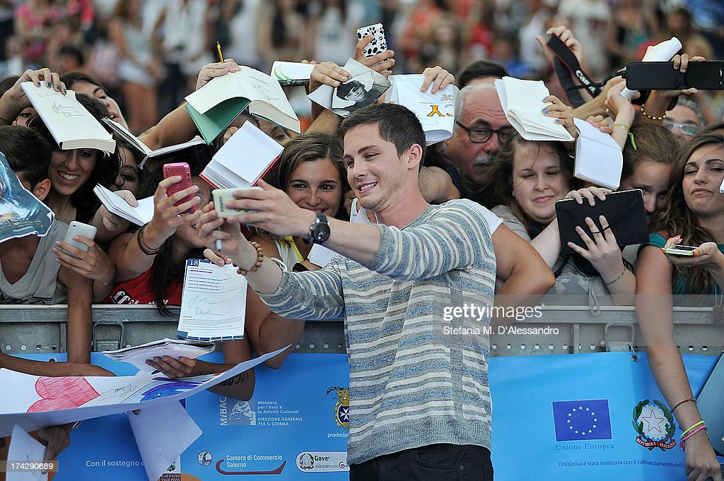 Logan Lerman attends 2013 Giffoni Film Festival bllue carpet on July 23, 2013 in Giffoni Valle Piana, Italy.