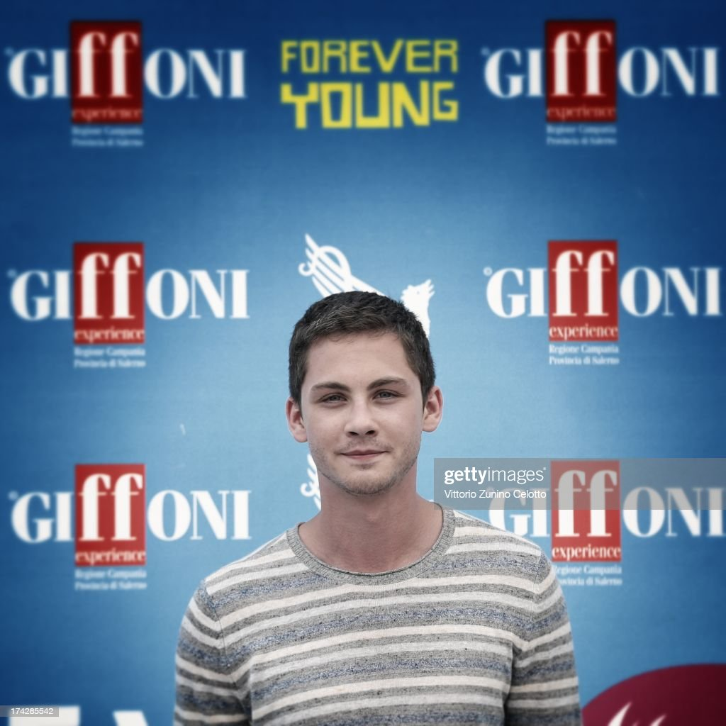 <a gi-track='captionPersonalityLinkClicked' href=/galleries/search?phrase=Logan+Lerman&family=editorial&specificpeople=635439 ng-click='$event.stopPropagation()'>Logan Lerman</a> attends 2013 Giffoni Film Festival photocall on July 23, 2013 in Giffoni Valle Piana, Italy.