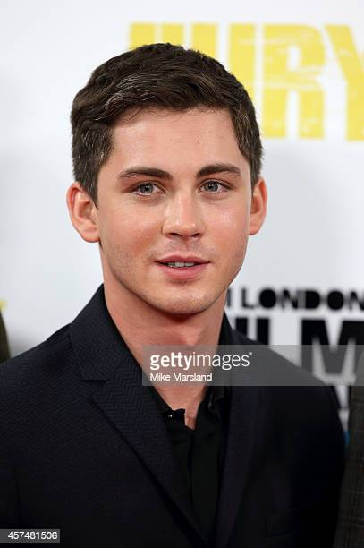 Logan Lerman attends a photocall for 'Fury' during the 58th BFI London Film Festival at Corinthia Hotel London on October 19 2014 in London England