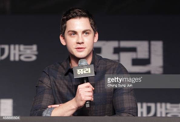 Logan Lerman attends the 'Fury' Press Conference at Conrad Hotel on November 13 2014 in Seoul South Korea
