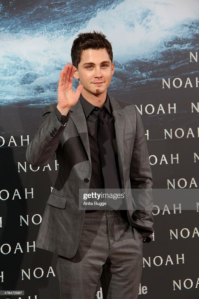 <a gi-track='captionPersonalityLinkClicked' href=/galleries/search?phrase=Logan+Lerman&family=editorial&specificpeople=635439 ng-click='$event.stopPropagation()'>Logan Lerman</a> attends the 'Noah' Germany premiere at Zoo Palast on March 13, 2014 in Berlin, Germany.
