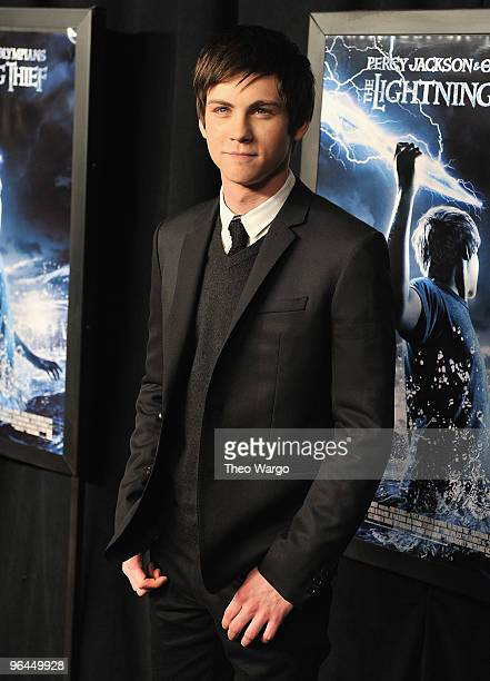 Logan Lerman attends the premiere of 'Percy Jackson The Olympians The Lightning Thief' at AMC Lincoln Square on February 4 2010 in New York City
