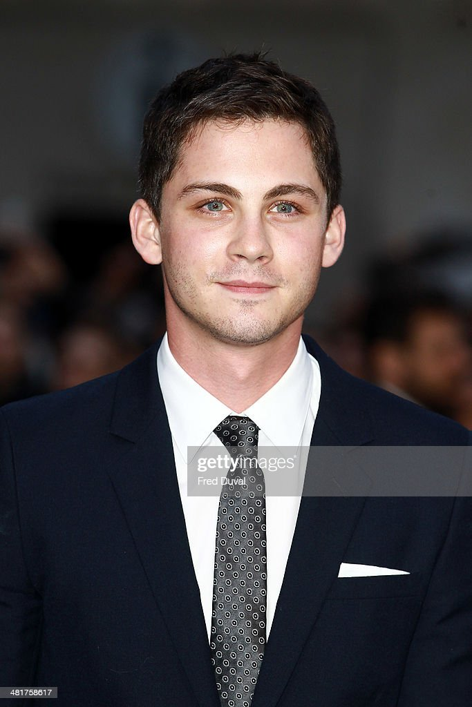 <a gi-track='captionPersonalityLinkClicked' href=/galleries/search?phrase=Logan+Lerman&family=editorial&specificpeople=635439 ng-click='$event.stopPropagation()'>Logan Lerman</a> attends the UK film premiere of 'Noah' at Odeon Leicester Square on March 31, 2014 in London, England.