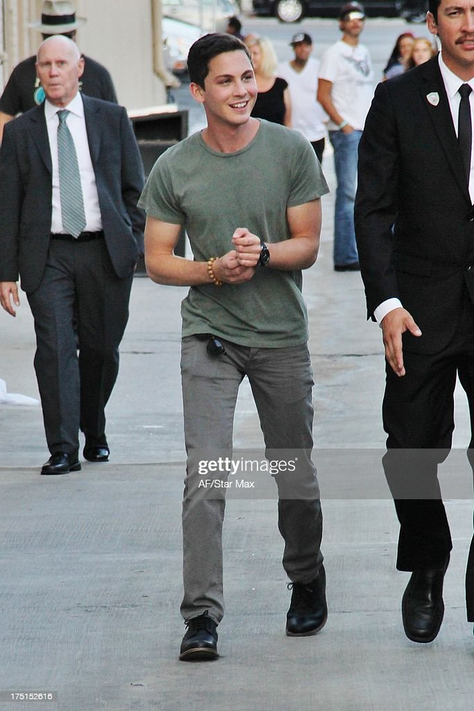 <a gi-track='captionPersonalityLinkClicked' href=/galleries/search?phrase=Logan+Lerman&family=editorial&specificpeople=635439 ng-click='$event.stopPropagation()'>Logan Lerman</a> sighted on July 31, 2013 in Los Angeles, California.
