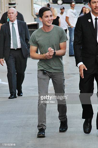 Logan Lerman sighted on July 31 2013 in Los Angeles California