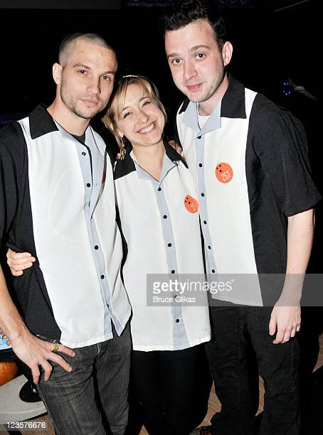 Logan Marshall Green Allison Mack and Eddie Kaye Thomas attend Second Stage Theatre's All Star Bowling Classic fundraier at Lucky Strike Lanes Lounge...