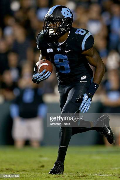 J Logan of the North Carolina Tar Heels during their game at Kenan Stadium on October 17 2013 in Chapel Hill North Carolina