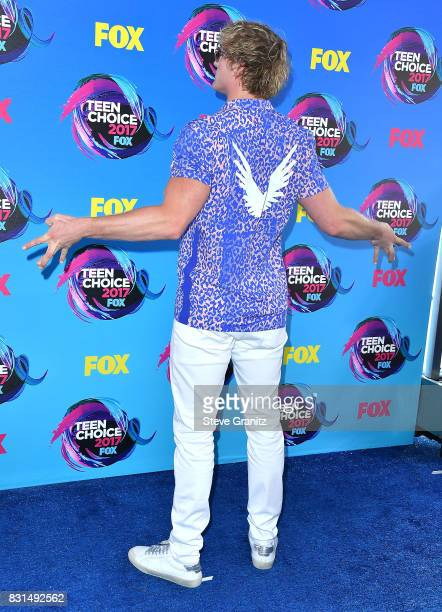 Logan Paul arrives at the Teen Choice Awards 2017 at Galen Center on August 13 2017 in Los Angeles California