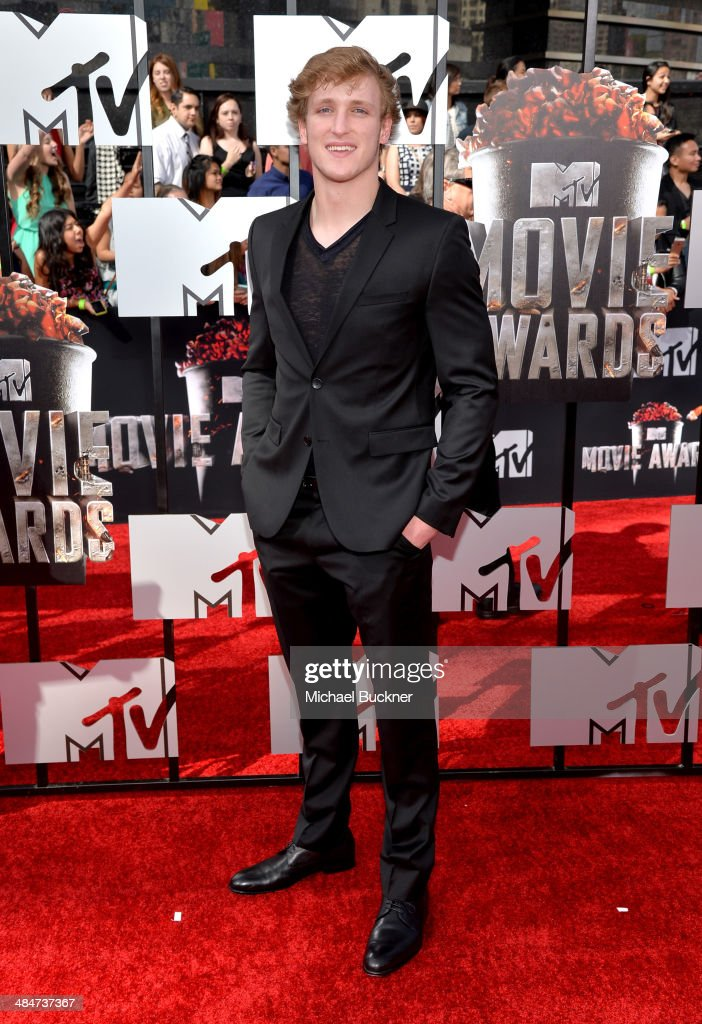 Logan Paul attends the 2014 MTV Movie Awards at Nokia Theatre L.A. Live on April 13, 2014 in Los Angeles, California.