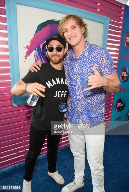 Logan Paul attends the Teen Choice Awards 2017 at Galen Center on August 13 2017 in Los Angeles California