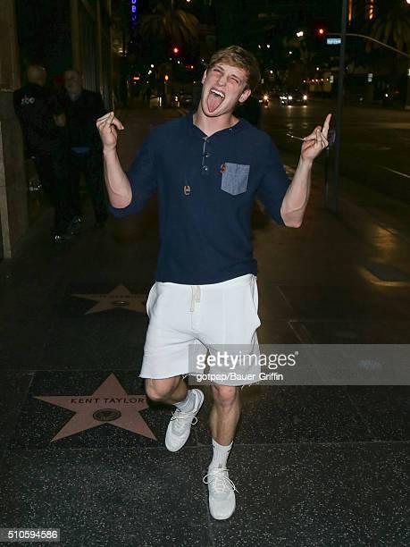 Logan Paul is seen on February 15 2016 in Los Angeles California