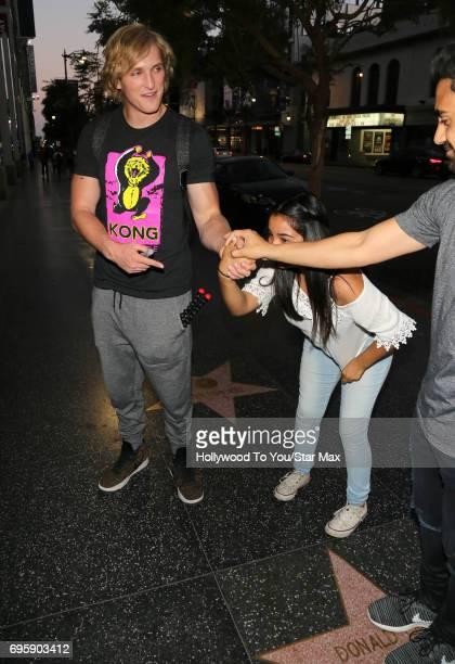 Logan Paul is seen on June 13 2017 in Los Angeles CA