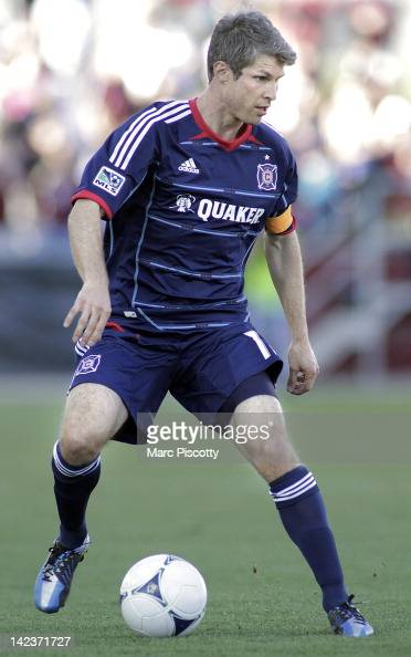 Logan Pause of the Chicago Fire plays against the Colorado Rapids during their game at Dick's Sporting Goods Park April 1 2012 in Commerce City...