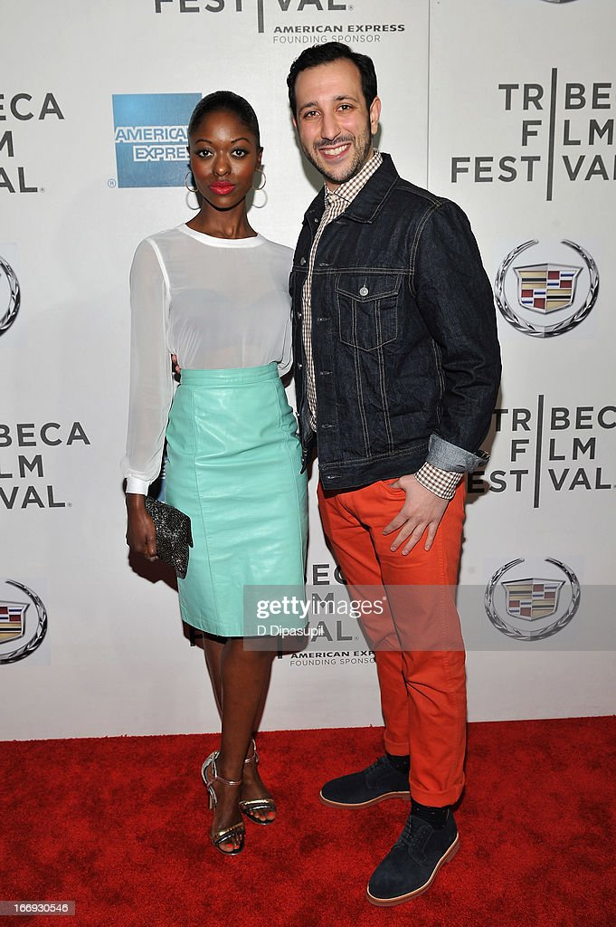 Logan Vaughn (L) and actor Desmin Borges attends the 'Almost Christmas' world premiere during the 2013 Tribeca Film Festival on April 18, 2013 in New York City.