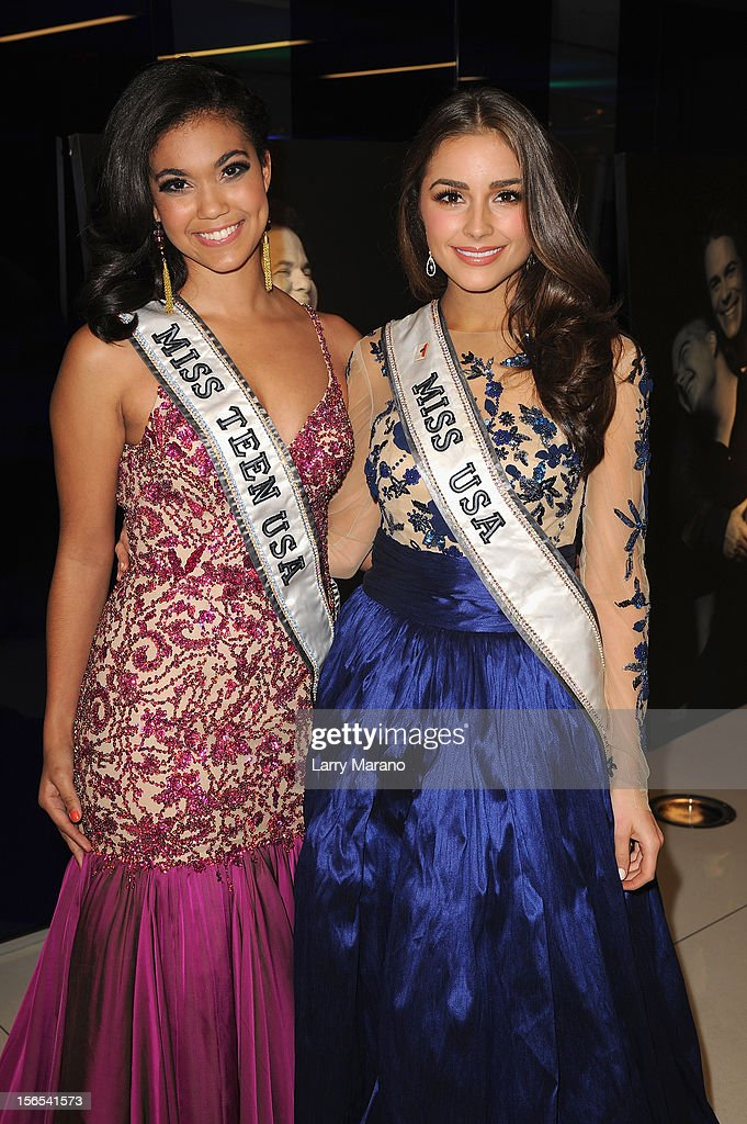 Logan West, Miss Teen USA 2012, and Olivia Culpo, Miss USA 2012, attend the Zenith Watches Best Buddies Miami Gala at Marlins Park on November 16, 2012 in Miami, Florida.