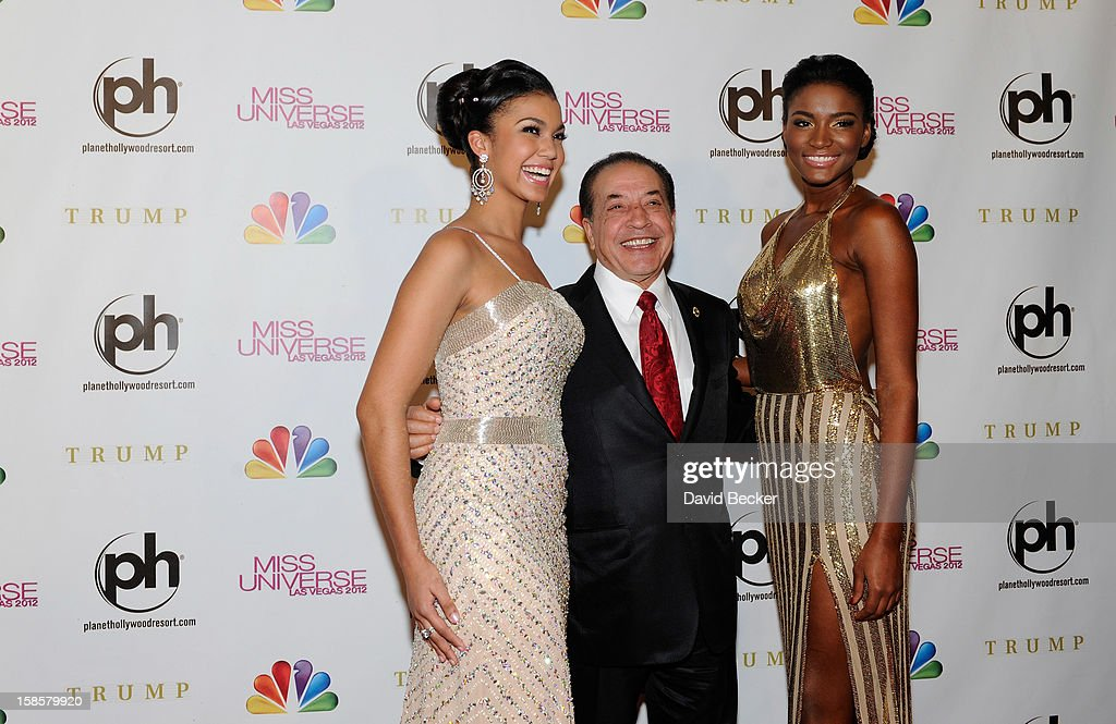 Logan West Miss Teen USA 2012 Founder and Chairman of Farouk Systems Farouk Shami and Leila Lopes Miss Universe 2011 arrive at the 2012 Miss Universe...