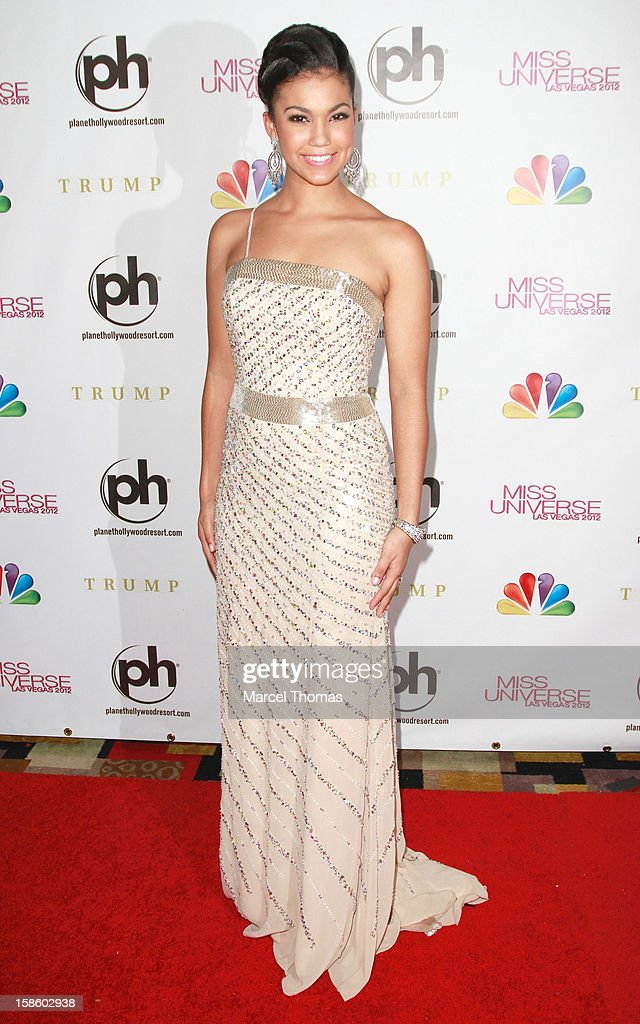 Logan West Miss Teen USA arrives at the 2012 Miss Universe Pageant at Planet Hollywood Resort & Casino on December 19, 2012 in Las Vegas, Nevada.