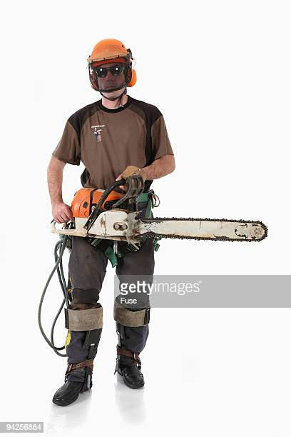 Logger wearing gear