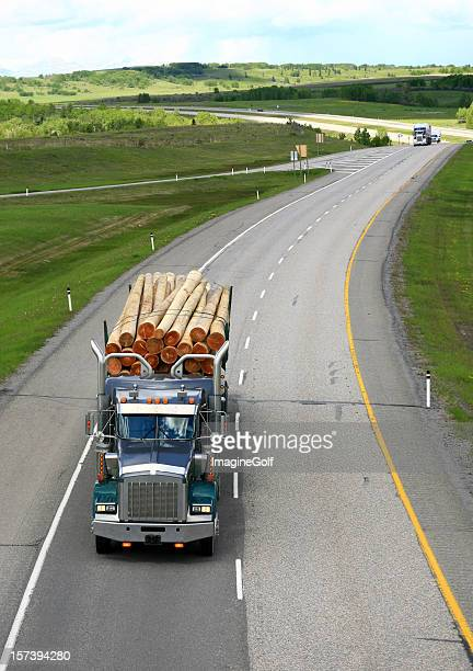 Logging Truck on a Beautiful Rolling Highway