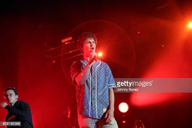 Logic and Ansel Elgort perform at Barclays Center on August 8 2017 in New York City
