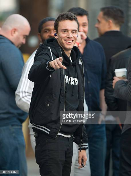Logic is seen at 'Jimmy Kimmel Live' on January 20 2015 in Los Angeles California