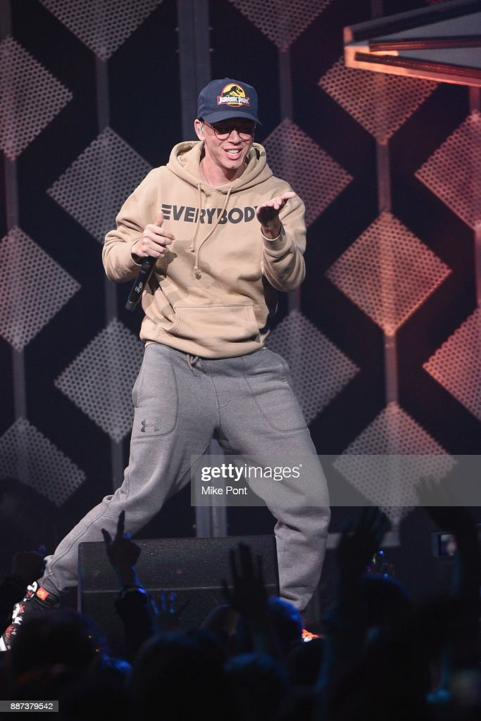 Logic performs onstage during Q102's Jingle Ball 2017 Presented by Capital One at Wells Fargo Center on December 6, 2017 in Philadelphia, Pennsylvania.