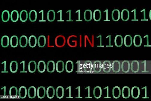 Login : Stock Photo